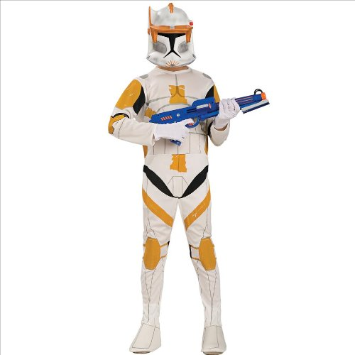 [Star Wars Animated Deluxe Clone Trooper Commander Cody Child Costume - Large - Kid's Costumes] (Star Wars Commander Cody Costumes)