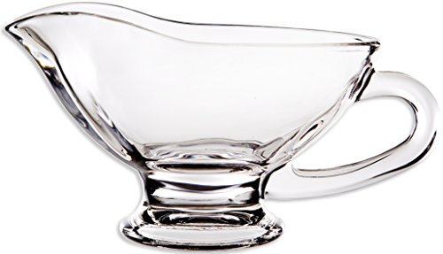 Circleware 20112 Saucy Glass Gravy Dish with Handle, 10 oz, - Gravy Glass Boat