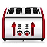 Best Slot Toasters - Toaster 4 Slice, Chitomax 4 Wide Slots Stainless Review