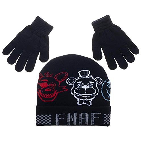 Five Nights at Freddys Hat and Five Nights at Freddys Gloves ()