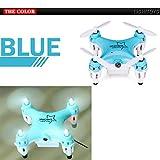 Tiean L6058W 2.4G 4CH 6Axis RC 3D Roll Quadcopter Mini Pocket Drone WiFi Camera FPV (Blue)