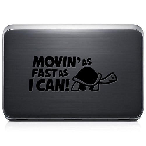 Moving As Fast As I Can Old Turtle Japanese JDM PERMANENT Vinyl Decal Sticker For Laptop Tablet Helmet Windows Wall Decor Car Truck Motorcycle - Size (12 Inch / 30 Cm Wide) - Color (Gloss Black) by GottaLoveStickerz
