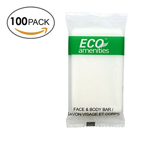 Price comparison product image ECO Amenities Spa Sachet Individually Wrapped 1 ounce Cleaning Soap, 100 Bars per Case