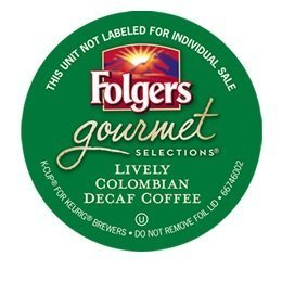 Folgers 100 percent Colombian Decaf single serve K-cup pods for Keurig brewers, 48 Count