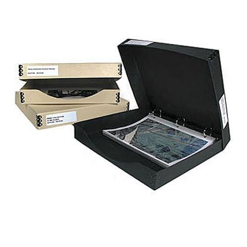 Archival Methods Three Ring Binder Box 12.25x13.25x1.5', Black AM06001
