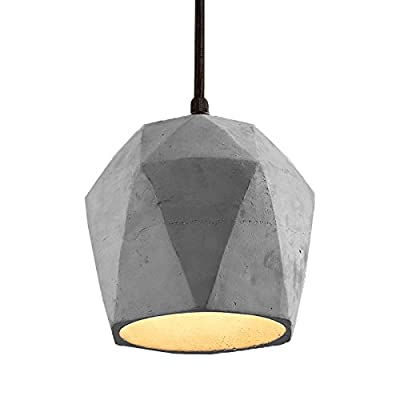 Spacecraft Modern Concrete Pendant Light, Vintage Industrial Cement Hanging Ceiling Chandelier Lamp