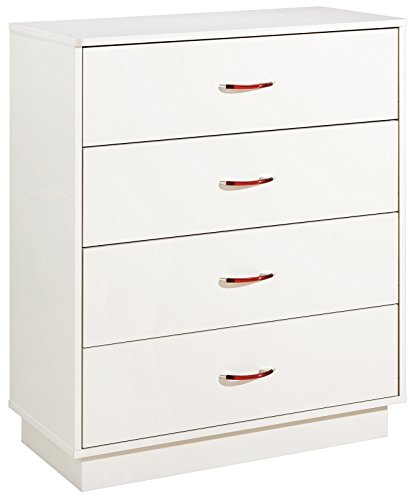 South Shore Furniture, Logik Collection, 4 Drawer Chest, Pure White ()
