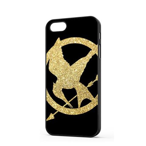 Coque,The Hunger Games Glitter Gold Coque iphone 5 Case Coque, The Hunger Games Coque iphone 5s Case Cover