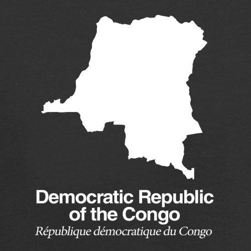 Democratic Republic of the Congo / Demokratische Republik Kongo Silhouette - Damen T-Shirt - Schwarz - M