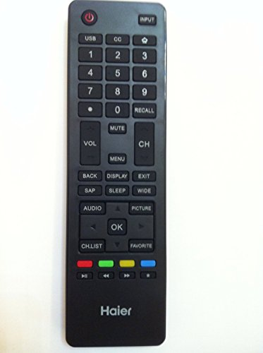 Brand New HAIER lcd led tv Remote control HTR-A18M For 32D3000 LE32M600M20 LE32F32200 LE24M600M80 LE24F33800 LE39F32800 LE39M600M80 40D3500M 48D3500 LE48M600M80 LE50M600M80 55D3550 LE55M600M80 haier TV-sold by Parts-outlet store