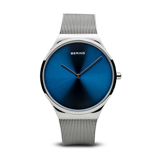 Bering Time 12138-007 Unisex Classic Collection Watch with Stainless-Steel Strap and Scratch Resistent Sapphire Crystal. Designed in Denmark