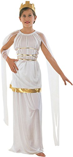 [Kids Fancy Dress Party Greek Grecian Goddess Book Week Day Outfit X-large] (Athena Greek Goddess Costume Child)