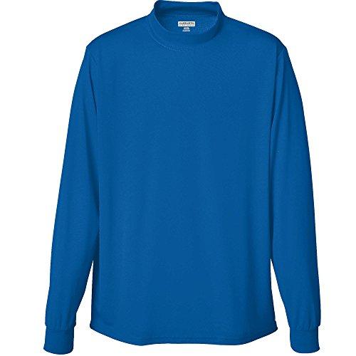 Augusta Sportswear MEN'S WICKING MOCK TURTLENECK 3XL Royal
