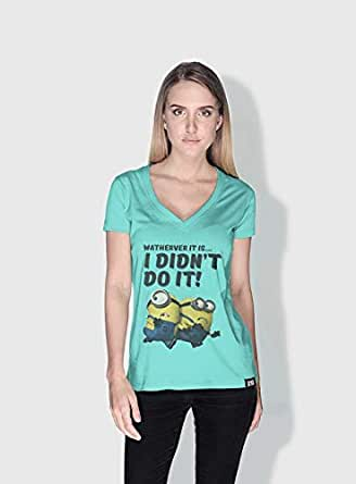 Creo Running Minions Round Neck T-Shirt For Men - Green, Xl