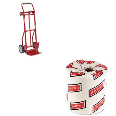 KITBWK6180SAF4087R - Value Kit - Safco Two-Way Convertible Hand Truck (SAF4087R) and White 2-Ply Toilet Tissue, 4.5quot; x 3quot; Sheet Size (BWK6180) (Two Hand Convertible Way Truck)
