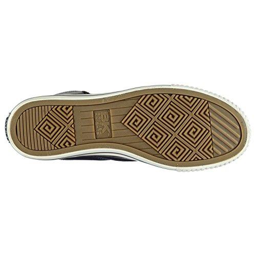 British Knights Hombre Opie Cremallera Hi Top Canvas Zapatos Cordones Zapatillas
