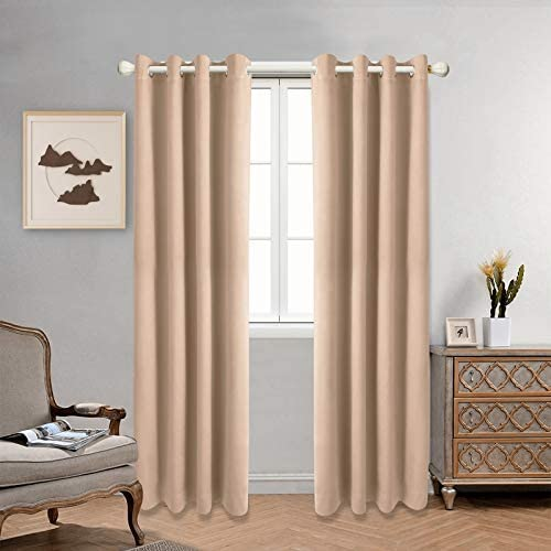 CAMPIR Blackout Curtains,Thermal Curtains,Room Darkening Grommet Blackout Curtains