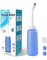 Meidong Portable Travel Bidet Handheld Personal Bidet Sprayer Mini Portable Bidet for Toilet 500ML Eva Bottle Water Capacity with Extra Long Pointed Nozzle Spray Cleaner for Personal Hygiene Cleaning/Baby Care/Soothing Postpartum Care/(Outdoor/Travling)