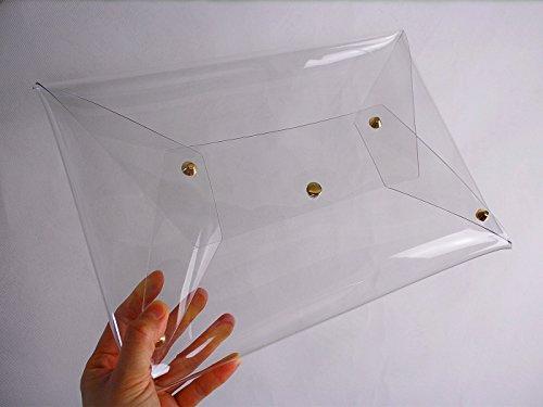 PVC Clear Clutch Transparent Handbag Bag Purse Casual Women's Flada Transparent Messenger PEqn5wx
