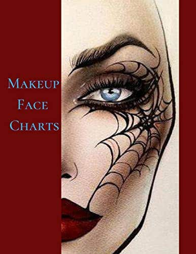 Makeup Face Charts: The Cute Blank Paper Practice Face Chart For Professional Makeup Artists