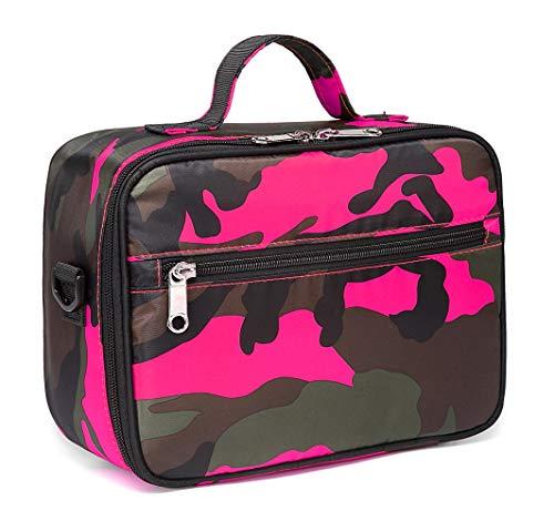 [해외]BLUEFAIRY 아동용 단열 런치 박스 여아용 도시락 가방 남아용 학교용 / BLUEFAIRY Kids Insulated Lunch Bag for Girls Camo Lunchbags for School Outdoor with Handle (Pink Camoufllage)