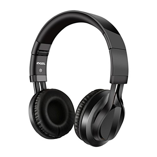 YJYdada Foldable Over Ear Stereo Headphone Wired Headset Soft Earmuffs for iPhone PC (Black)