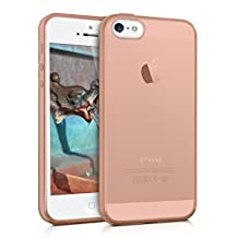 kwmobile Crystal Case Cover for Apple iPhone SE / 5 / 5S made of TPU Silicone - transparent clear Protection Case in rose gold