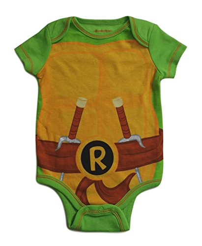Teenage Mutant Ninja Turtles Baby Creeper Bodysuit (0-3 Months, Raphael) (Teenage Mutant Ninja Turtles Halloween)