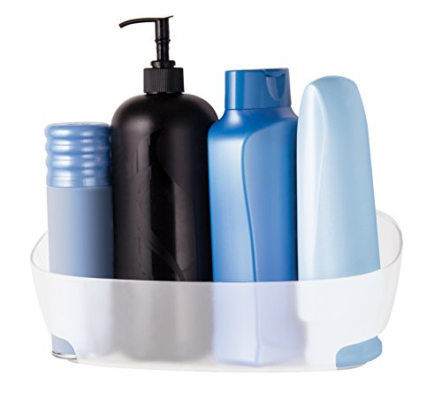 Command Shower Caddy with Water-Resistant Strips, Clear Frosted, 1 Caddy, 4 Strips (BATH11-ES)