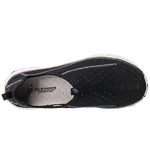 Shoes purple Water Aleader Women's On Mesh Black Slip ZnZ8zX6x