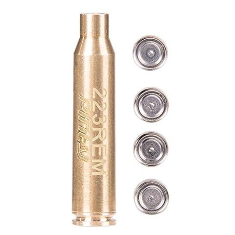 Pinty Laser Red Dot for Scopes 223 REM Bore Sight Cartridge Sight 5.56 Nato (Ar 15 Mini Red Dot)