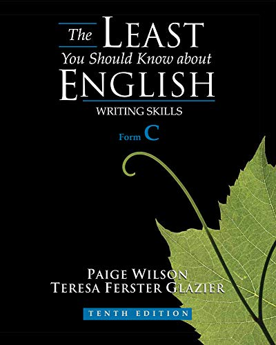 The Least You Should Know About English: Writing Skills, Form C