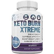 Keto Burn Xtreme - BHB Ketones - Suppress Appetite - Boost Weight Loss - Burn Fat As Fuel - 700mg Keto Blend - 30 Day Supply