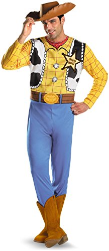 Disney Disguise Men's Pixar Toy Story and Beyond Woody Classic Costume, Yellow/Black/White/Brown, XX-Large -