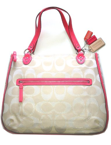 Coach Poppy Signature Metallic Outline Hallie Tote, Bags Central
