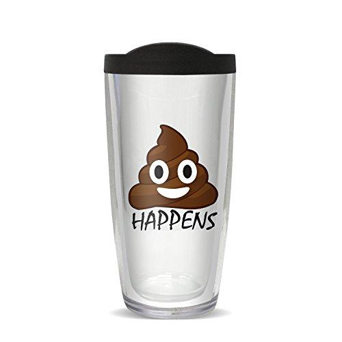 Covocup 16-10124L Emoji Happens Cup, 16 oz, Multicolor ()