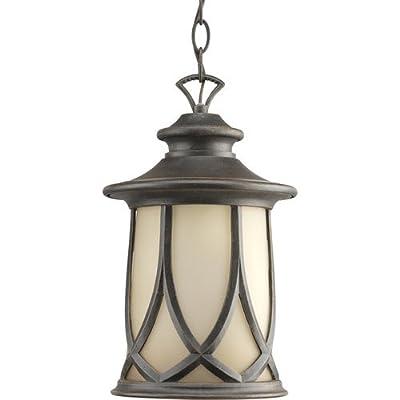 Progress Lighting P6504 Resort Single-Light Outdoor Hanging Lantern with Gradual,