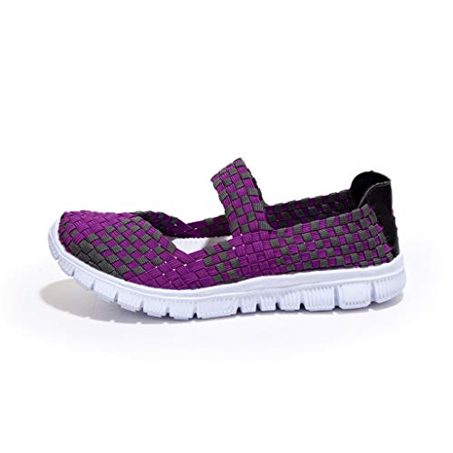 Women Woven Sport Water Shoes - POHOK Women'S Woven Breathable Elastic Band A Pedal Sneakers Casual - Childrens Shoes Dyeable
