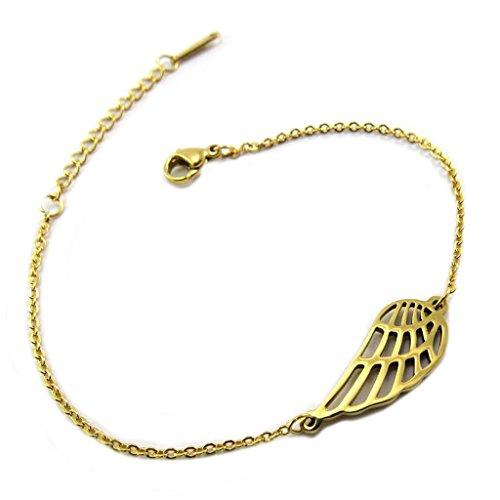 Steel bracelet 'Les Ailes D'ange' golden.