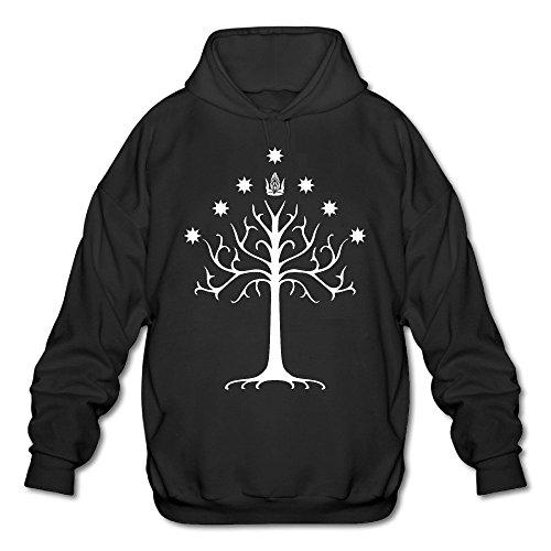 Price comparison product image JOYSLI Men's White Tree Of Gondor - Lord Of The Rings Hoodie Black