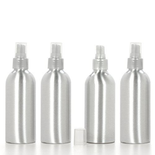 Hosley Poo Aromatherapy Spray Bottle with Sprayer (Empty), Set of 4, 6 oz. Great for Aromatherapy, Storing Essential Oils, DIY Diffusers, Craft Projects, Wedding, Party, Room Sprays O8