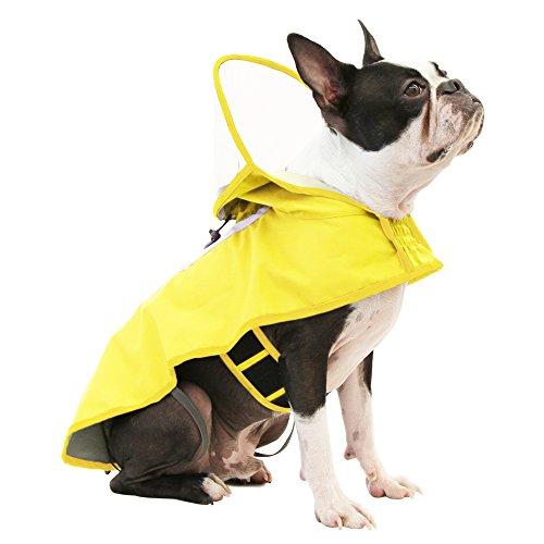 (Gooby - Raincoat, Adjustable Rain Cap with See Through Visor, Yellow, X-Large)