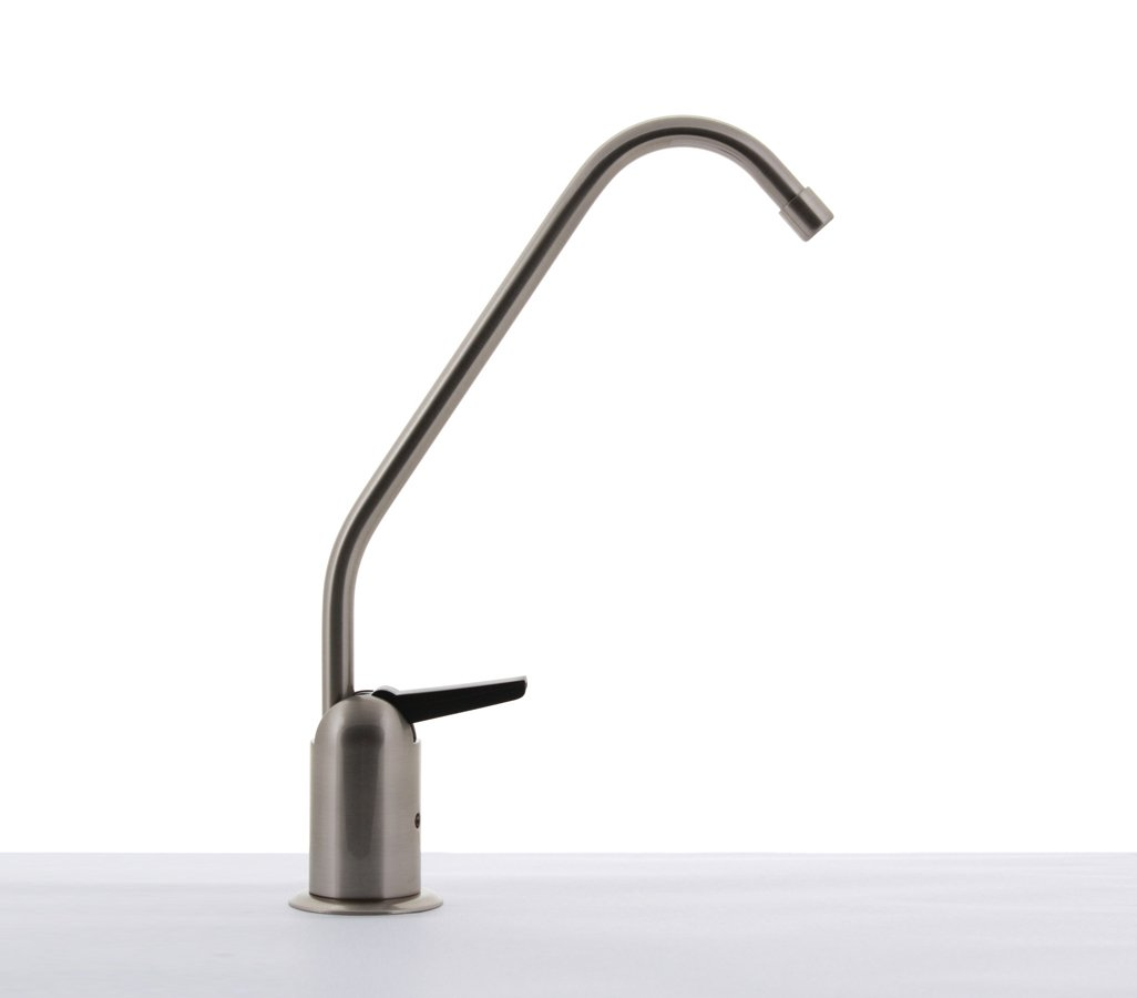 Hydronix LF-BLRAG-BN Teir1 Long Reach RO Reverse Osmosis or Filtered Water Faucet, Lead Free, Brushed Nickel with Air Gap