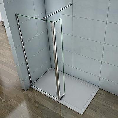Mamparas de Ducha Panel Fijo + Lateral Movible 8mm Antical Barra 70-120cm - 60x40x200cm: Amazon.es: Bricolaje y herramientas