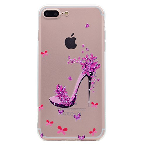 "iPhone 7 Plus Hülle , Leiai Mode Schuhen Mit Hohen Absätzen TPU Transparent Weich Tasche Schutzhülle Silikon Handyhülle Stoßdämpfende Schale Fall Case Shell für Apple iPhone 7 Plus 5.5"""