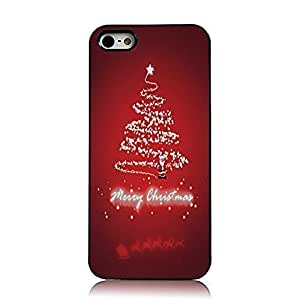 5s Case, iPhone 5&5s Case - Sunshine Case Fashion Style Painted Colorful Pattern Santa Claus Christmas Tree Merry Christmas & Happy New Year Cover Hard Case for iPhone 5&5s(Santa Claus with Christmas Tree)