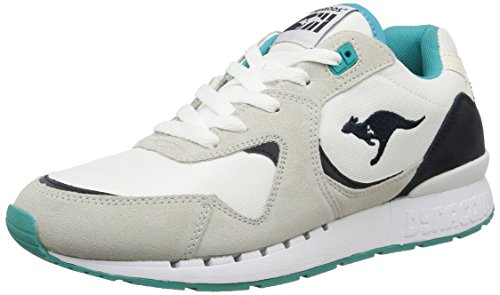 Unisex White Adults' Black Trainers KangaROOS Beige r2 Coil dTqw80