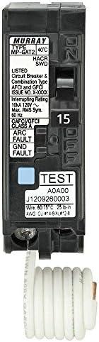 15 Amp AFCI GFCI Dual Function Circuit Breaker