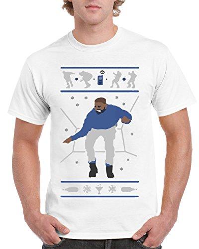 T-Shirts for Men Hotline Bling Drake Men's T-Shirts Crew Neck Tee Shirts(White,Medium) ()