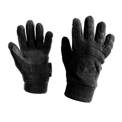 Dublin Good Hands Easy Care Fleece Pimple Grip Riding Gloves - Black, Xl ()
